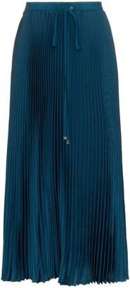 Tibi drawstring pleated midi skirt