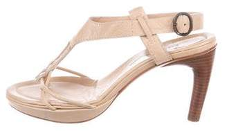 CNC Costume National Leather Buckle Sandals