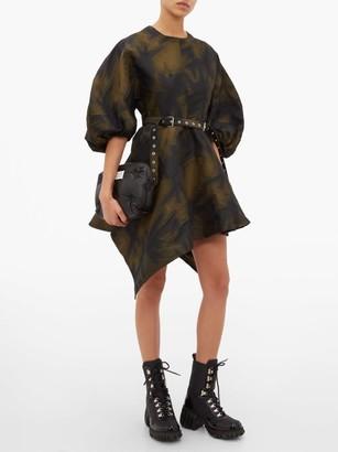 Marques Almeida Marques'almeida - Asymmetrical Belted Mini Dress - Womens - Khaki