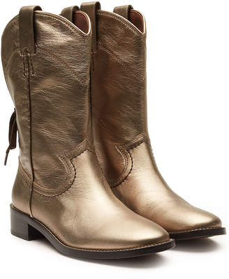 See by Chloe Devon Metallic Leather Knee Boots