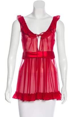 Dolce & Gabbana Ruffled Sleeveless Top