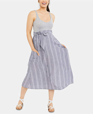 A Pea in the Pod Maternity Pull-On Midi Skirt
