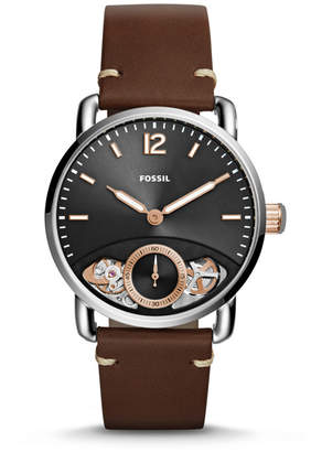 Fossil The Commuter Twist Brown Leather Watch