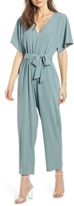 June & Hudson Tie Waist Jumpsuit