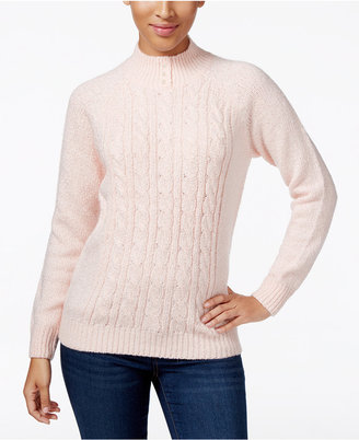 Karen Scott Cable-Knit Sweater, Only at Macy's $39.50 thestylecure.com