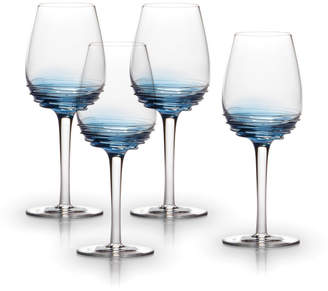 Mikasa Cobalt Set of 4 White Wine Glasses