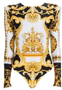 Versace Long Sleeve Jersey Bodysuit
