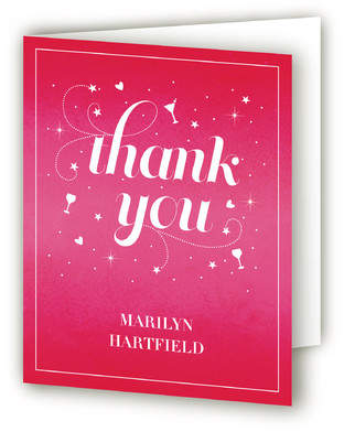 Starburst Party Adult Birthday Party Thank You Cards