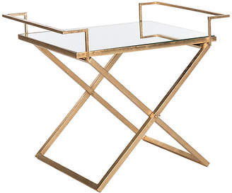 One Kings Lane Melody Side Table - Gold/Mirror