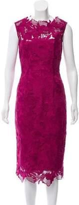 Lela Rose Lace Midi Dress