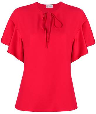 RED Valentino ruffled sleeves T-shirt