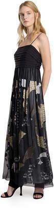 Max Studio satin/chiffon devorA long dress