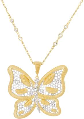 """""""As is"""" Genesi 18K Clad Butterfly Enhancer with 24"""" Chain,28.0g"""