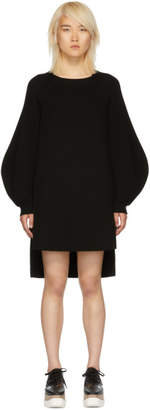 Stella McCartney Black Voluminous Sleeve Knit Dress