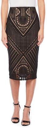 Bold Elements Womens Midi Pencil Skirt
