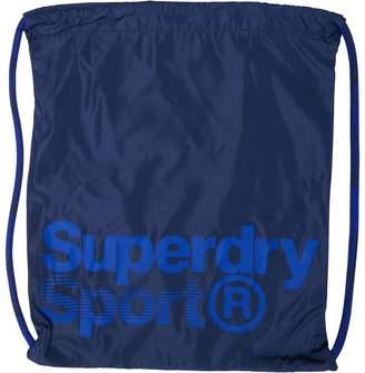 Superdry Mens Drawstring Sports Bag Navy/White