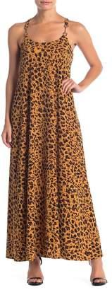 Donna Morgan Leopard Print Maxi Dress