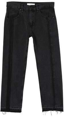 MANGO Straight-fit dark wash jeans