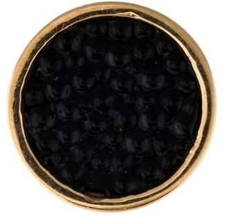 Alison Lou 14K Enamel Caviar Stud Earring