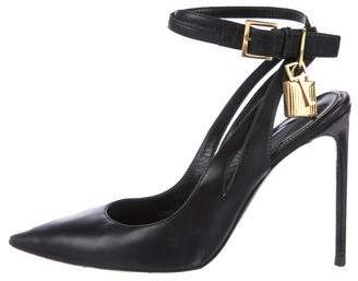Tom Ford Leather Padlock Pumps