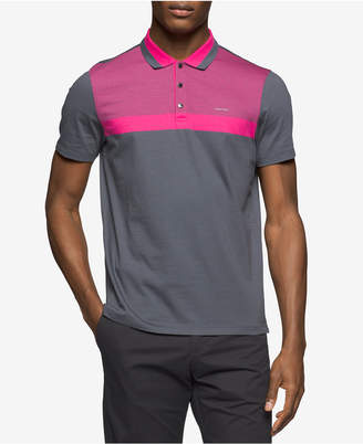 Calvin Klein Men's Colorblocked Liquid Cotton Polo $69.50 thestylecure.com
