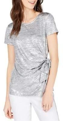 INC International Concepts Side-Tie Shine Top