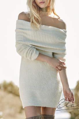 Elan International Cowl Neck Sweater Dress