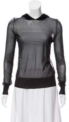 J.W.Anderson Long Sleeve Silk Top