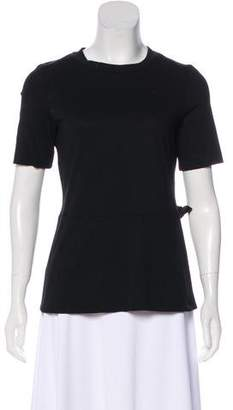 Marni Silk-Trimmed Crew Neck Top