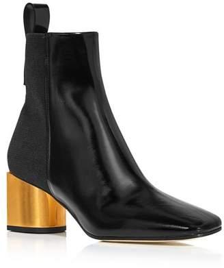 Proenza Schouler Women's Square Toe Leather Booties