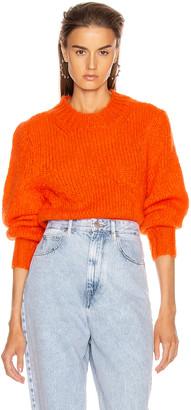 Isabel Marant Ivah Sweater in Poppy Orange   FWRD