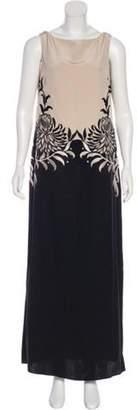 Temperley London Silk Maxi Dress Black Silk Maxi Dress