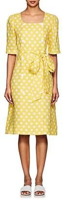 Lisa Marie Fernandez Women's Diana Polka Dot Linen Dress - Yellow