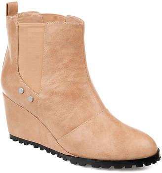 Journee Collection Womens Jc Jessie Booties Pull-on Wedge Heel
