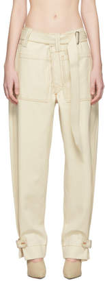 Thierry Mugler White Raw Denim Trousers