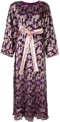 Dima Ayad metallic print flared dress