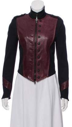 Rag & Bone Military-Style Leather-Accent Jacket