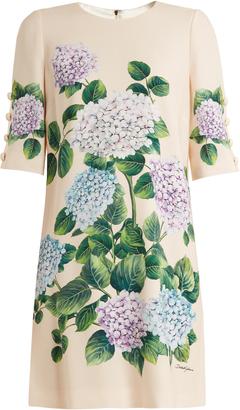 DOLCE & GABBANA Hydrangea-print front cady dress $1,995 thestylecure.com