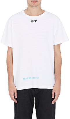 Off-White c/o Virgil Abloh Men's Block-Print Cotton T-Shirt $305 thestylecure.com