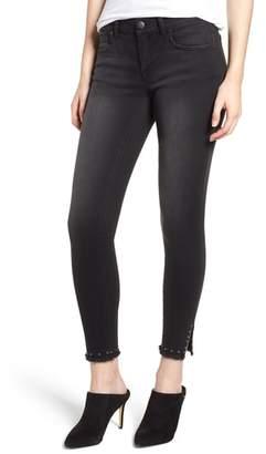 1822 Denim Stud Hem Skinny Ankle Jeans