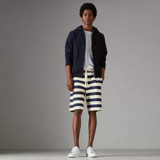 Burberry Striped Cotton Shorts