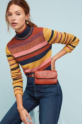 Frye Cropped Mock Neck Sweater