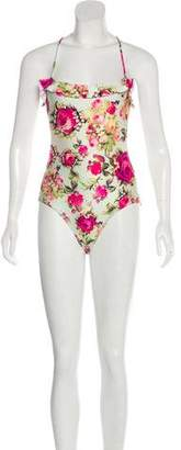 We Are Handsome Printed Halter Swimsuit w/ Tags