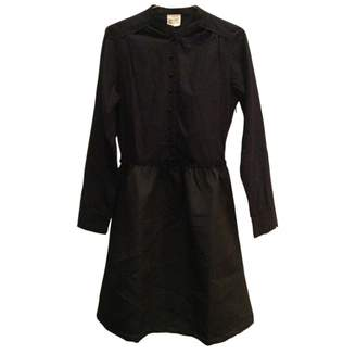 Petite Mendigote Black Cotton Dress for Women