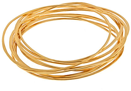 Rebecca Norman Thin Gold Bangle Set