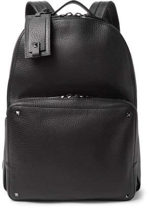 Valentino Garavani Rockstud Full-Grain Leather Backpack - Black