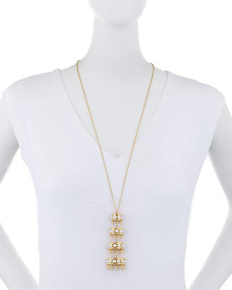 Lele Sadoughi Pearly Pagoda Pendant Necklace