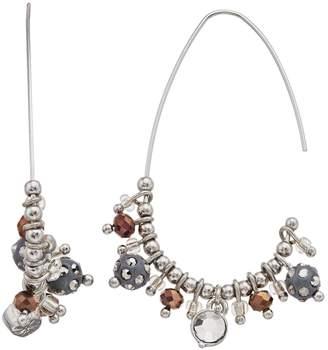 Vera Wang Simply Vera Beaded Threader Hoop Earrings