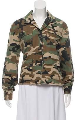 RtA Denim Camouflage Button-Up Jacket w/ Tags