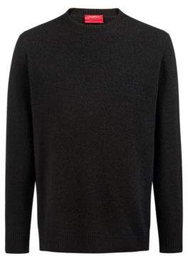 HUGO Boss Oversized-fit jersey sweater blended wool & alpaca L Black